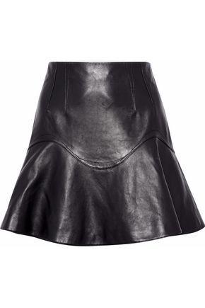 ALEXANDER WANG Fluted leather mini skirt