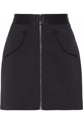 ALEXANDER WANG Silk satin-trimmed twill mini skirt