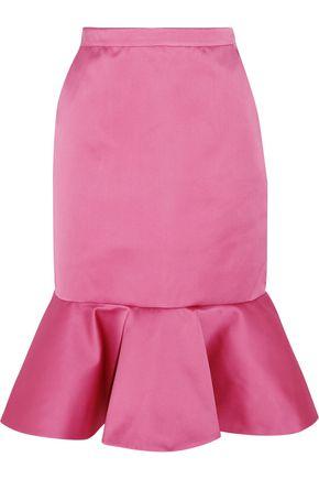 J.CREW Dante ruffled duchesse-satin skirt