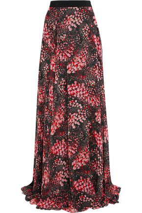 GIAMBATTISTA VALLI Printed silk-georgette maxi skirt