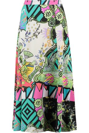 ETRO Printed silk-georgette maxi skirt