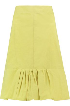 MARNI Pleated cotton-blend skirt