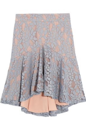 ALEXIS Braxten ruffled corded lace skirt