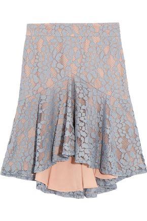 ALEXIS Braxten ruffled corded lace skirt