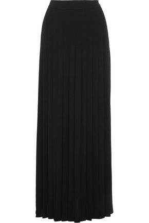 MICHAEL KORS COLLECTION Pleated silk-georgette maxi skirt