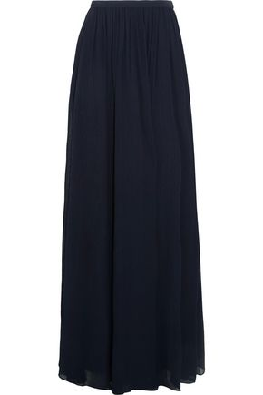 ADEAM Plissé-crepe maxi skirt