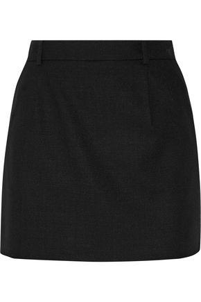 SAINT LAURENT Wool-crepe mini skirt