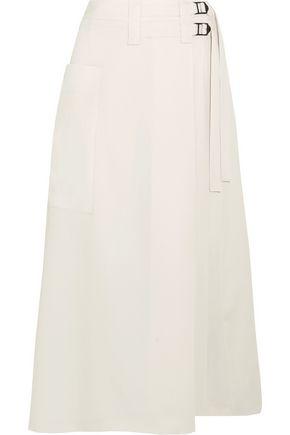 BOTTEGA VENETA Wool-crepe wrap skirt