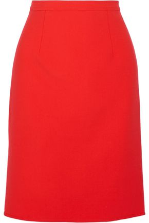 OSCAR DE LA RENTA Wool-blend pencil skirt
