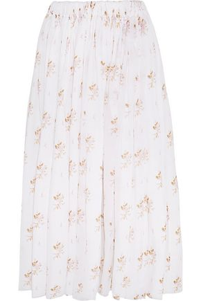 EMILIA WICKSTEAD Gail floral-print cotton-voile midi skirt