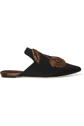 SANAYI 313 Ciliegia embroidered twill slippers
