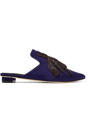 SANAYI 313 Ragno embroidered faille slippers