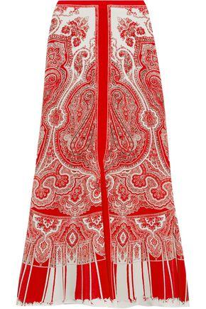ALEXANDER MCQUEEN Paisley-print silk crepe de chine midi skirt