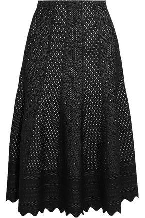 ALEXANDER MCQUEEN Pointelle-knit midi skirt