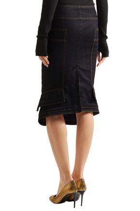 TOM FORD Fluted denim pencil skirt