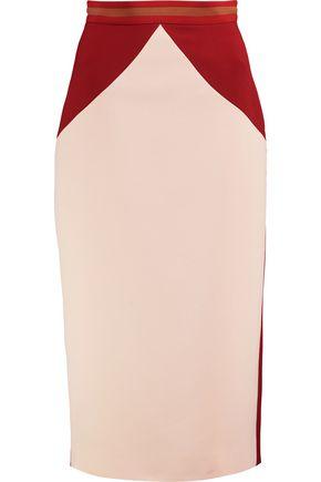 ROKSANDA Arshan two-tone crepe midi skirt