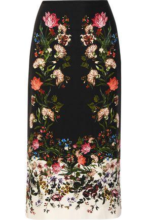 ERDEM Maira floral-print silk crepe de chine skirt