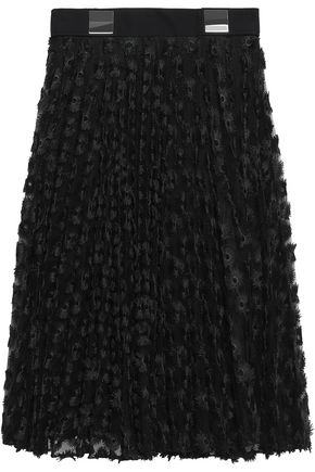 CARVEN Appliquéd tulle midi skirt