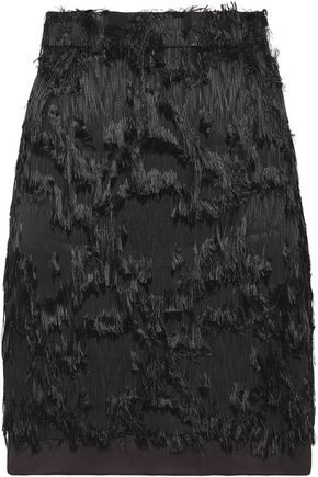 CARVEN Fringed fil coupé mini skirt