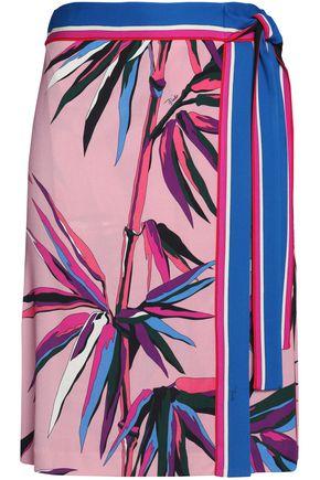 EMILIO PUCCI Wrap-effect printed crepe mini skirt