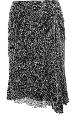 DION LEE Draped embellished mesh skirt