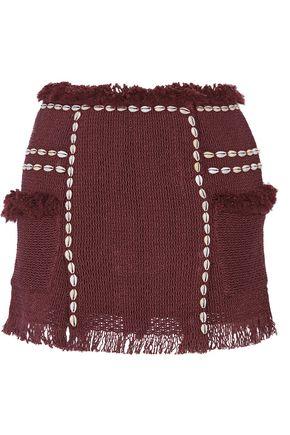 ISABEL MARANT Perla embellished cotton-blend mini skirt
