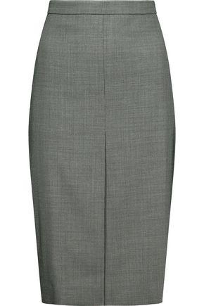 MAX MARA Printed wool-blend pencil skirt