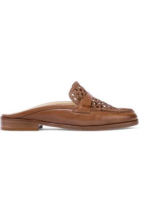 ALEXANDRE BIRMAN Alexa woven leather loafers
