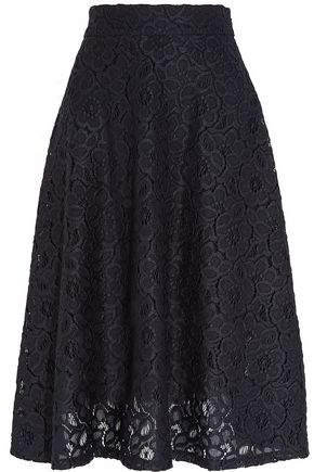 DKNY Guipure lace midi skirt