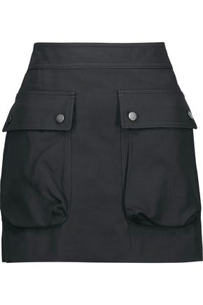 HELMUT LANG Cotton and linen-blend twill mini skirt