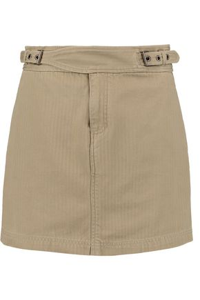 MARC BY MARC JACOBS Buckled cotton-twill wrap mini skirt