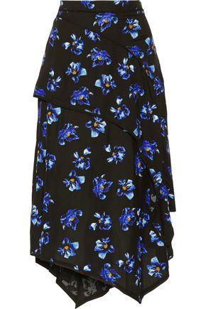 PROENZA SCHOULER Layered floral-print crepe midi skirt