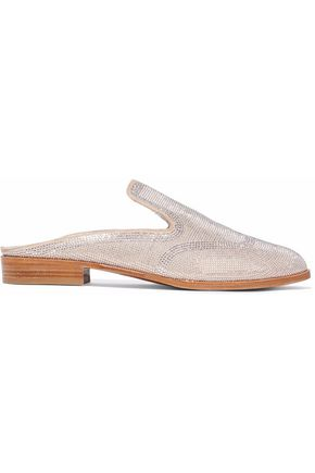 ROBERT CLERGERIE Studded suede slippers