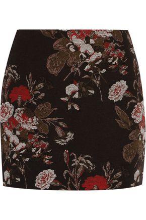 GANNI Cotton-blend brocade mini skirt
