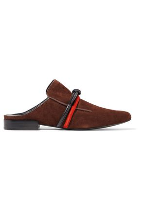 3.1 PHILLIP LIM Louie leather-trimmed suede slippers
