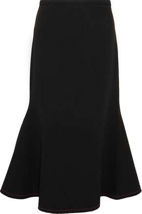 ELLERY Bee Dee fluted stretch-crepe skirt