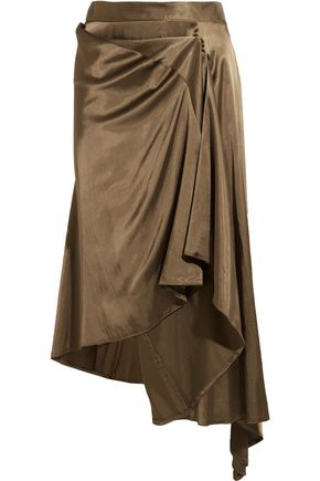 MM6 MAISON MARGIELA Convertible asymmetric satin midi skirt