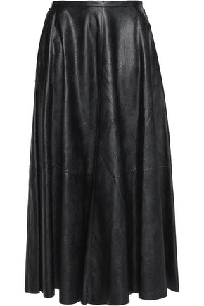 MM6 MAISON MARGIELA Faux leather midi skirt
