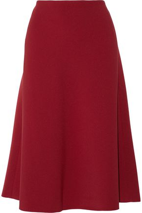RAOUL Amelia pleated crepe midi skirt