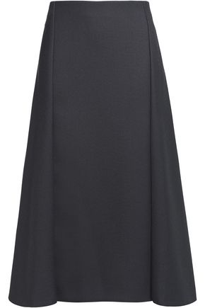 NINA RICCI Pleated twill skirt