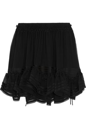 CHLOÉ Ruffle-trimmed silk-chiffon mini skirt