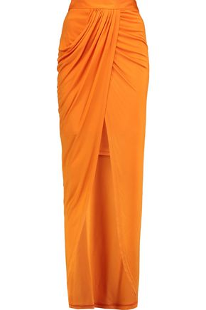 BALMAIN Ruched stretch-jersey skirt