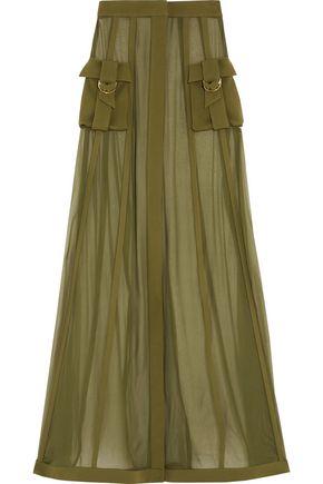 BALMAIN Silk-chiffon maxi skirt
