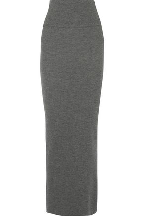 STELLA McCARTNEY Ribbed-knit wool maxi skirt
