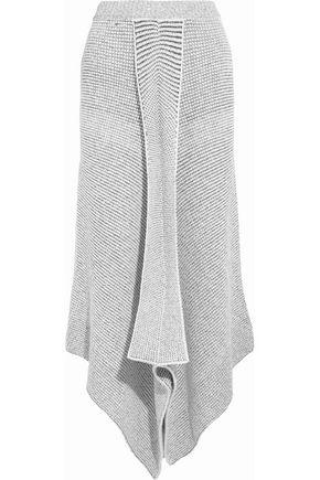 STELLA McCARTNEY Asymmetric stretch wool-blend bouclé maxi skirt