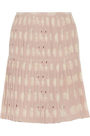Charlotte Pleated Printed Silk Crepe De Chine Skirt by Stella Mc Cartney
