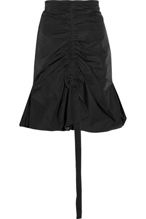 ELLERY Amaretto ruched shell mini skirt