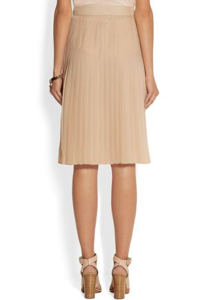 GIVENCHY Pleated skirt in blush silk-chiffon
