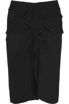 ISABEL MARANT Huston ruffled silk-georgette skirt