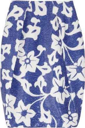 DIANE VON FURSTENBERG Alex floral-print sequined skirt